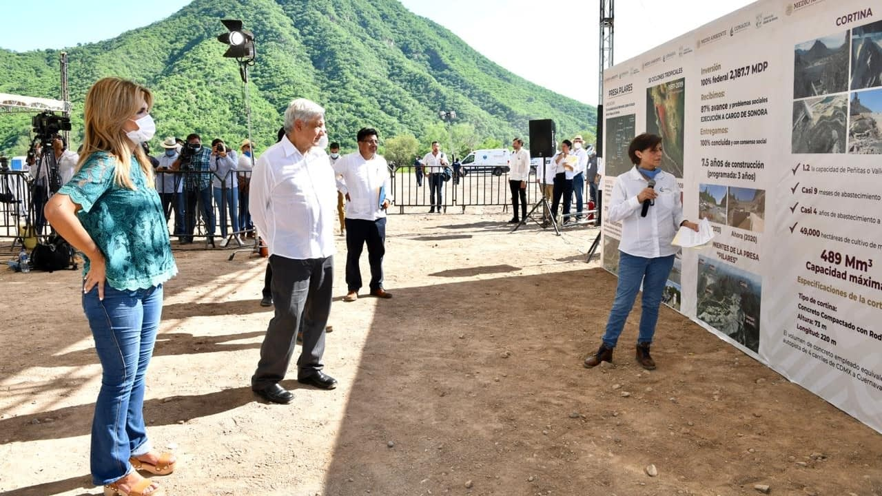 Los Pilares dam is inaugurated in Sonora