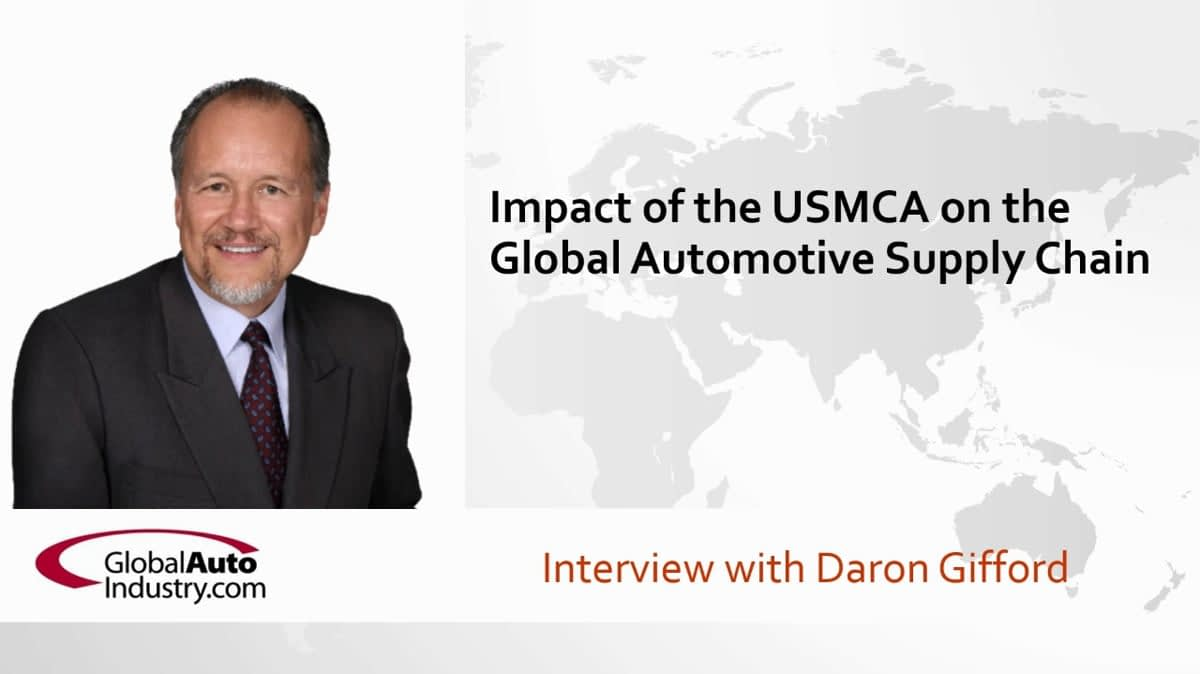 Impact of USMCA on the Global Automotive Supply Chain