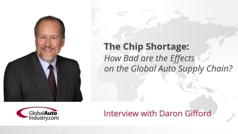 The Chip Shortage: How Bad are the Effects on the Global Auto Supply Chain?