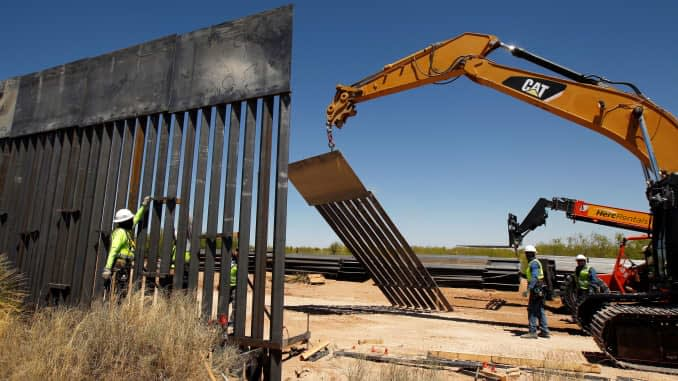 Border wall construction accelerated