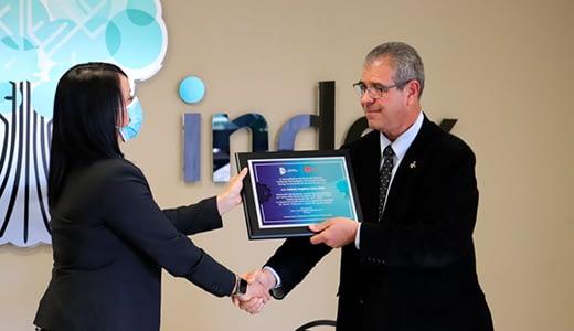 Fabiola Luna Ávila announces her promise as the new president of Index Juárez