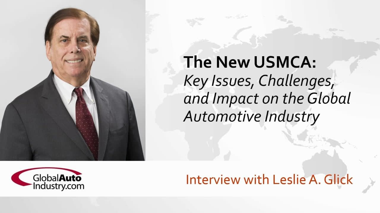 The New USMCA: Key Issues, Challenges, and Impact on the Global Automotive Industry