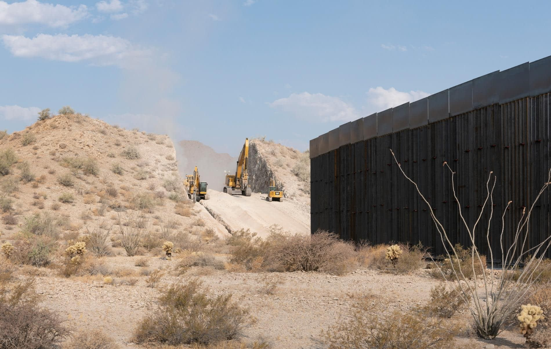 Terminating border-wall contracts would cost billions