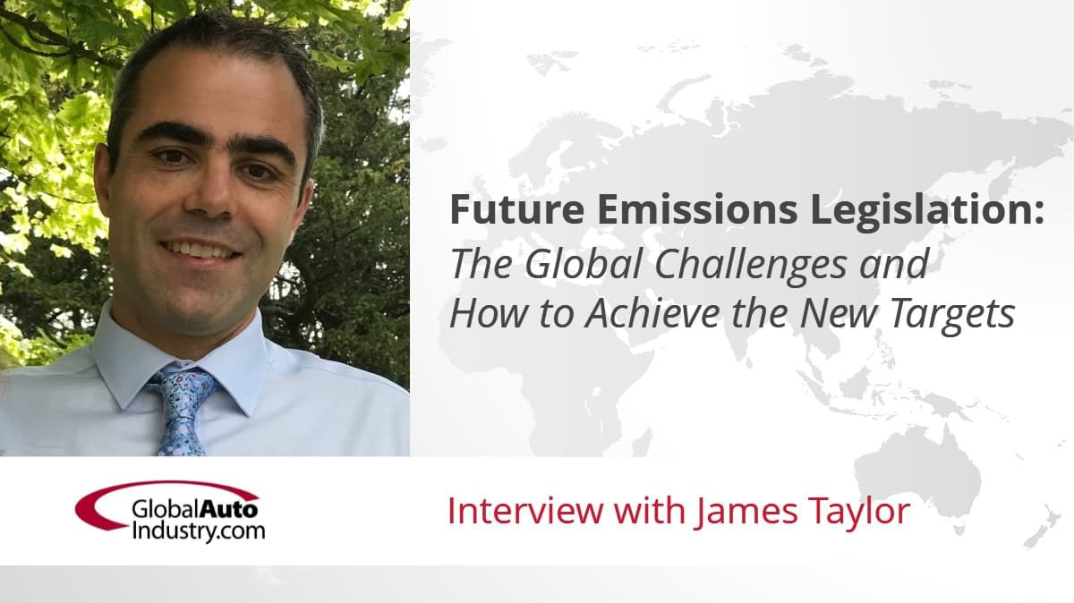 Future Emissions Legislation – The Global Challenges and How to Achieve the New Targets