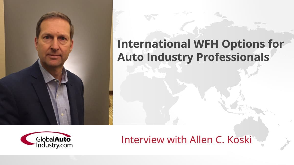 International WFH Options for Automotive Industry Professionals