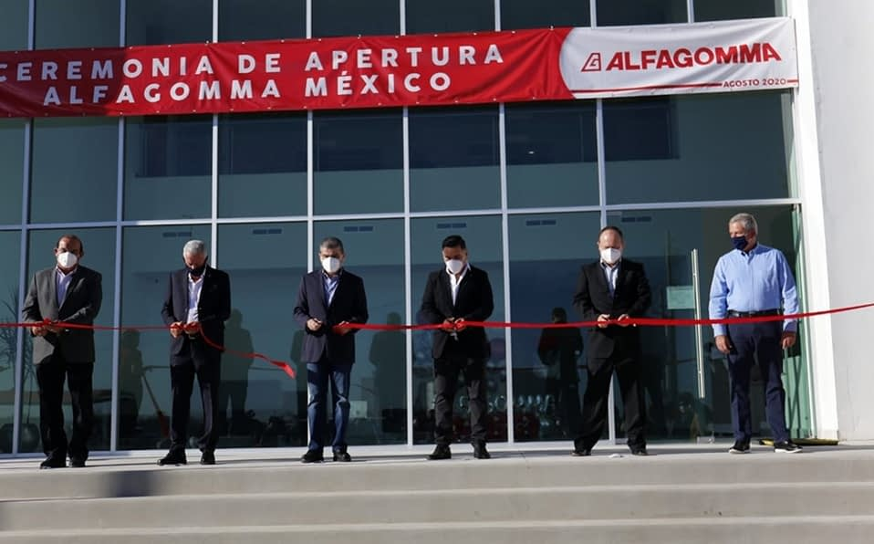 Alfagomma opens its plant in Torreón