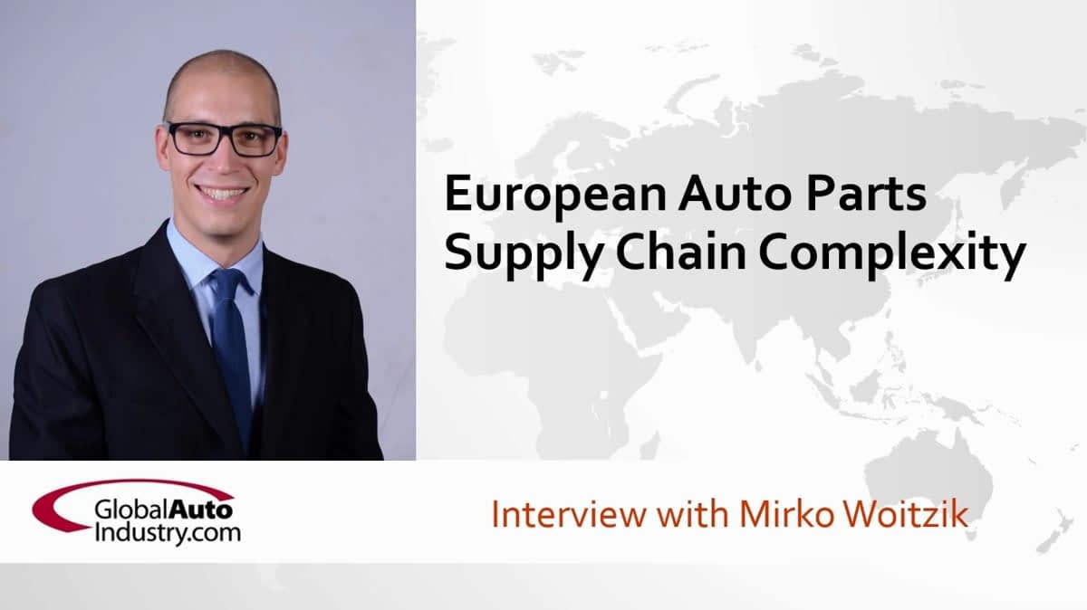 European Automotive Parts Supply Chain Complexity